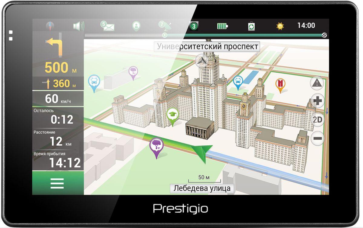 Prestigio GeoVision 5067, Black автомобильный навигаторPGPS5067CIS04GBNVПочувствуйте новый уровень удобства навигации с Prestigio GeoVision 5067. Устройство оснащено навигационным программным обеспечением Navitel, 3D-картами, голосовыми подсказками и базой достопримечательностей. Это означает, что вы всегда будете наслаждаться безопасностью поездки. Какой бы автомобиль у вас ни был, навигатор подчеркнет его стильный внешний вид. Получайте все выгоды 3D-карт и хорошо настроенной навигации от Navitel. Поиск места назначения становится легкой задачей благодаря визуализации вашего окружения на устройстве. Не пропустить нужный поворот вам помогут реалистичные изображения развязок и подсказки по полосам движения. Купив Prestigio Geovision 5067, вы получаете настоящего гида! Миллионы объектов - туристические места, автозаправочные станции, гостиницы и многое другое уже заботливо установлена в вашем новом устройстве. На 5-дюймовом экране (800x480) удобно наблюдать за дорогой и легко вводить адреса. С помощью...