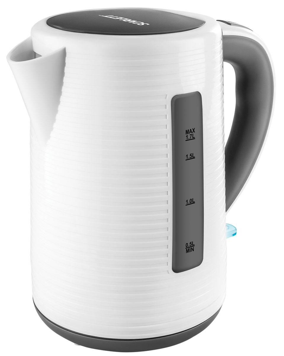Scarlett SC-EK18P10, White Grey чайник электрический электрический чайник scarlett sc ek18p16 white