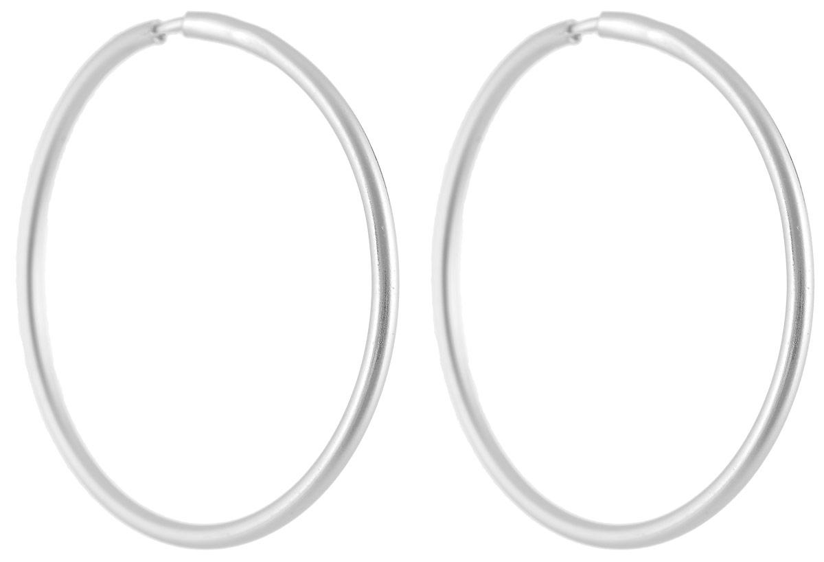 Серьги Vittorio Richi, цвет: серебристый. 91557966vr91557966vrСерьги-кольца Vittorio Richi выполнены из металла и застегиваются с помощью удобного замка-конго.