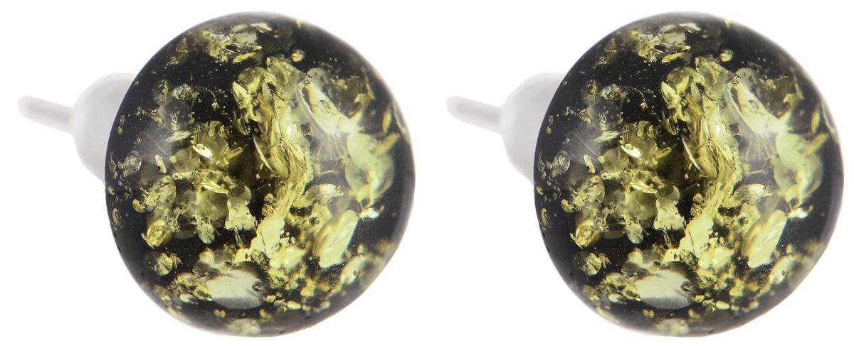 Серьги Vittorio Richi, цвет: серебристый, желтый. 91523719vr91523719vrСерьги Vittorio Richi выполнены из металла. Декоративный элемент круглой формы выполнен из янтаря и ювелирной смолы. Изделие застегивается с помощью замка-гвоздика с заглушкой.