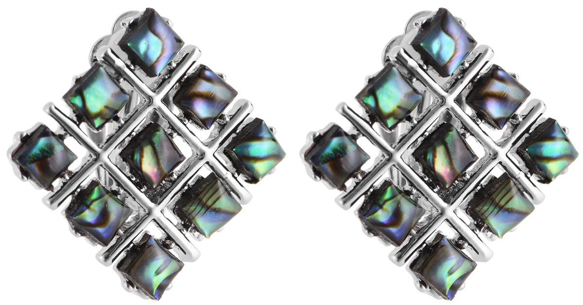 Серьги Vittorio Richi, цвет: серебристый, зеленый. 91522725vr91522725vrСерьги Vittorio Richi выполнены из металла и оформлены вставками из искусственных камней. Изделие застегивается с помощью застежки- клипсы. Примечательной чертой застежки-клипсы является то, что она не требует прокола.