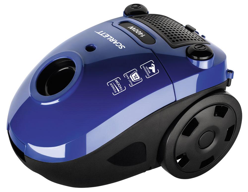 Scarlett SC-VC80B08, Blue пылесосSC-VC80B08Scarlett SC-VC80B08 - мощный и надежный пылесос, который избавит дом от грязи, пыли, аллергенов. Многоразовый мешок Dust-trap задерживает мельчайшие частицы пыли, поддерживая здоровую атмосферу в доме. Специальный индикатор, расположенный на эргономичном корпусе оповестит о заполнении пылесборника. 2 постоянных антистатических фильтра грубой очистки защищают мотор от загрязнения и предотвращают повторное попадание пыли в помещение в процессе уборки.