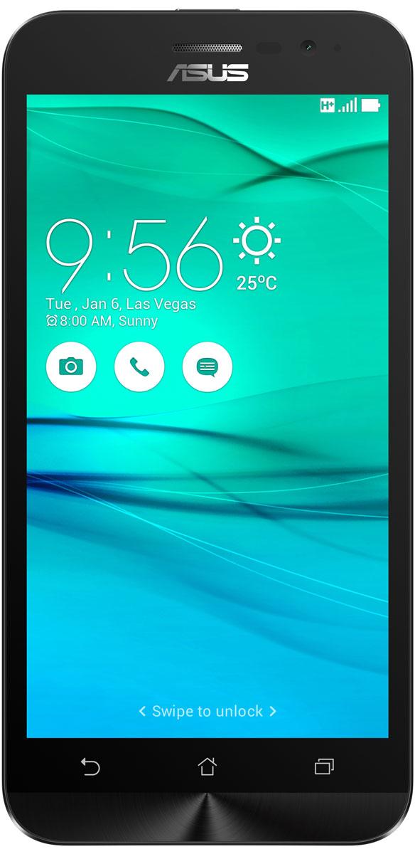 ASUS ZenFone Go ZB500KG, Black (90AX00B1-M00130)90AX00B1-M00130Поддержка двух SIM-карт, четкое изображение, интуитивно понятный пользовательский интерфейс - все это вы найдете в новом смартфоне Asus ZenFone Go ZB500KG. Линейка мобильных продуктов Asus, разрабатываемых под общей философией Zen, - это устройства, которыми приятно пользоваться. Сочетая в себе широкую функциональность и великолепный дизайн, они идеально подходят для современного, мобильного стиля жизни. ZenFone Go выполнен в эргономичном корпусе, который удобно ложится в ладонь. Оригинальным и весьма удобным решением в его дизайне является расположенная на задней панели корпуса кнопка, с помощью которой можно делать фотоснимки, изменять громкость звука и т.д. Подчеркните свою индивидуальность, выбрав ZenFone Go своего любимого цвета из нескольких доступных вариантов. А затем установите соответствующую визуальную тему пользовательского интерфейса Asus ZenUI. В ZenFone Go реализована эксклюзивная технология PixelMaster,...