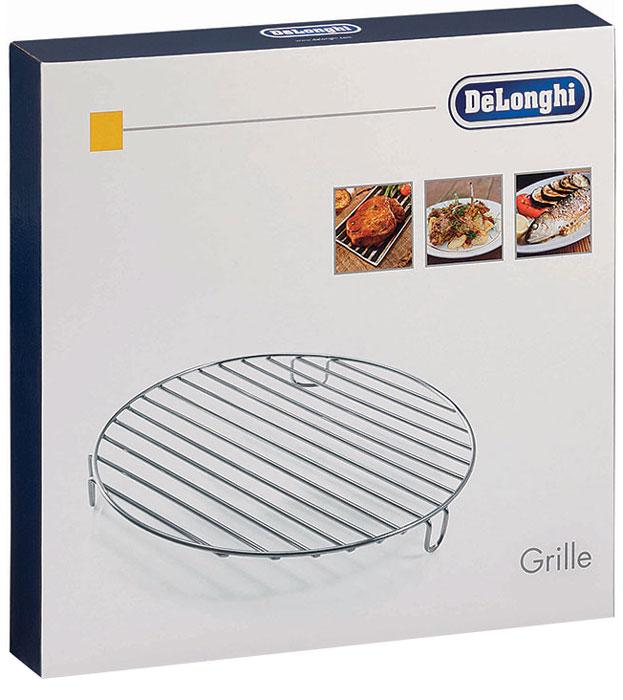 DeLonghi DLSK104 решетка для мультиварки5512510181Решетка для гриля DeLonghi DLSK104 – полезный и нужный аксессуар, если вы уже приобрели для своей кухни мультиварку от итальянского бренда. Эта металлическая решетка идеально совместима со всеми моделями мультиварок DeLonghi – вы можете использовать ее с FH 1363, FH 1394,FH 1396. Блюда, приготовленные на гриле отличаются особым вкусом, к тому же, их можно назвать диетическими, так как при их приготовлении практически не используется масло. Теперь вам не нужно ждать подходящей погоды, чтобы приготовить на природе аппетитные блюда гриль, ведь вы можете приготовить их в мультиварке. Если вы решите купить DLSK 104, вы будете довольны ее функциональностью. На этой решетке можно запечь колбаски, мясные стейки, курицу, рыбное филе или даже целую рыбу, помидоры, баклажаны, кабачки, болгарский перец. Если мясо предварительно замариновать со специями, можно приготовить ароматный и сочный шашлык. Вы сможете порадовать этими блюдами членов своей семьи или удивить...