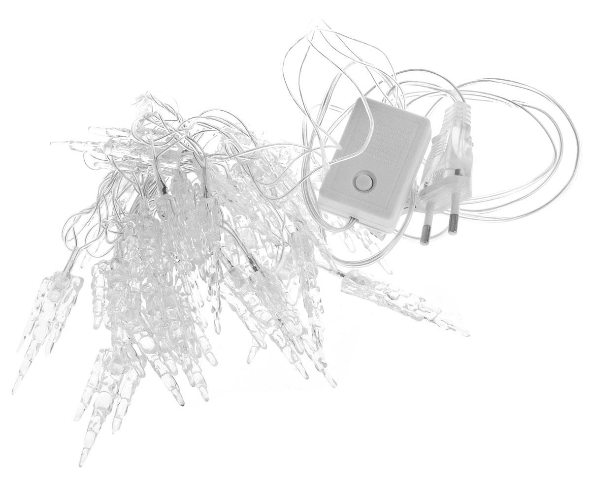 B&H Электрогирлянда с насадками Тройные сосульки, 2,4 м, 25 светодиодов, для исп. внутри помещения, цвет: синий