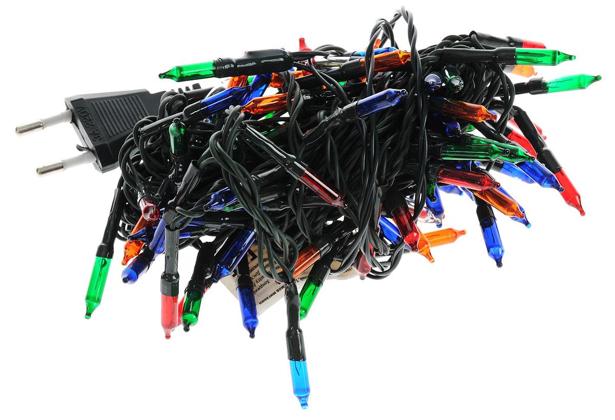 Электрогирлянда B&H Нить, 100 разноцветных миниламп, 5 режимов, 6 мBH0502Электрогирлянда B&H Нить предназначена для декора внутри помещений. Изделие представляет собой гибкий провод, на котором расположены яркие разноцветные минилампочки. Гирлянда имеет 5 режимов мигания, которые меняются поочередно (их невозможно переключить вручную). Электрогирлянда поможет украсить интерьер вашего дома, оформить окна, новогодние ели и другие объекты внутреннего интерьера. Создайте уютную атмосферу и праздничное настроение вокруг, украшая дом яркими новогодними гирляндами. Расстояние между минилампочками: 6 см.