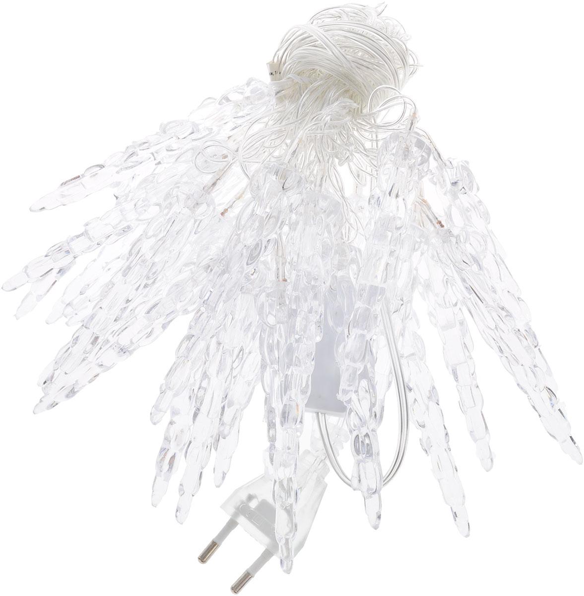 Электрогирлянда B&H Нить с сосульками, 25 светодиодов, цвет: холодный белый, 4,8 мBH0436-WЭлектрогирлянда B&H Нить с сосульками предназначена для декора внутри помещений. Изделие представляет собой гибкий провод, на котором расположено 25 светодиодов с насадками в форме сосулек. Электрогирлянда яркая и долговечная, имеет низкое энергопотребление. Она поможет украсить интерьер вашего дома, оформить витрины, окна, новогодние ели, камины и другие объекты внутреннего интерьера. Создайте уютную атмосферу и праздничное настроение вокруг, украшая дом яркими новогодними гирляндами. Расстояние между светодиодами: 20 см.