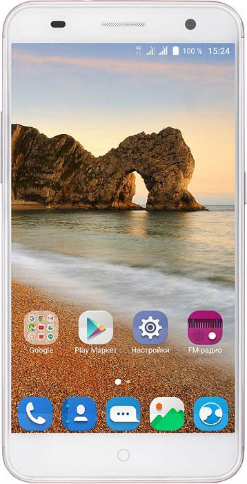 ZTE Blade V7, RoseBLADE.V7.ROСмартфон Blade V7 порадует сочетанием высокой производительности процессора, прочного стильного металлического корпуса и продвинутого функционала. Благодаря восьмиядерному процессору MediaTek MT6753 с тактовой частотой 1,3 ГГц смартфон работает чрезвычайно шустро. Пользователю обеспечены быстрый запуск и уверенная работа практически любых приложений, а также плавное воспроизведение видео. Смартфон имеет 5,2-дюймовый дисплей с разрешением 1920х1080 пикселей. Он достаточно яркий, не вынуждает владельца напрягать глаза, обеспечивает четкое, разборчивое изображение и экономно расходует энергию аккумулятора. ZTE Blade V7 оснащен двумя камерами - основной и фронтальной. Основная предназначена для фото- и видеосъемки, для этого у нее есть 13-мегапиксельная матрица, автофокус и светодиодная вспышка, благодаря чему владелец может снимать фото и видео, которыми не стыдно поделиться с окружающими. Фронтальная 8- мегапиксельная камера предназначена...