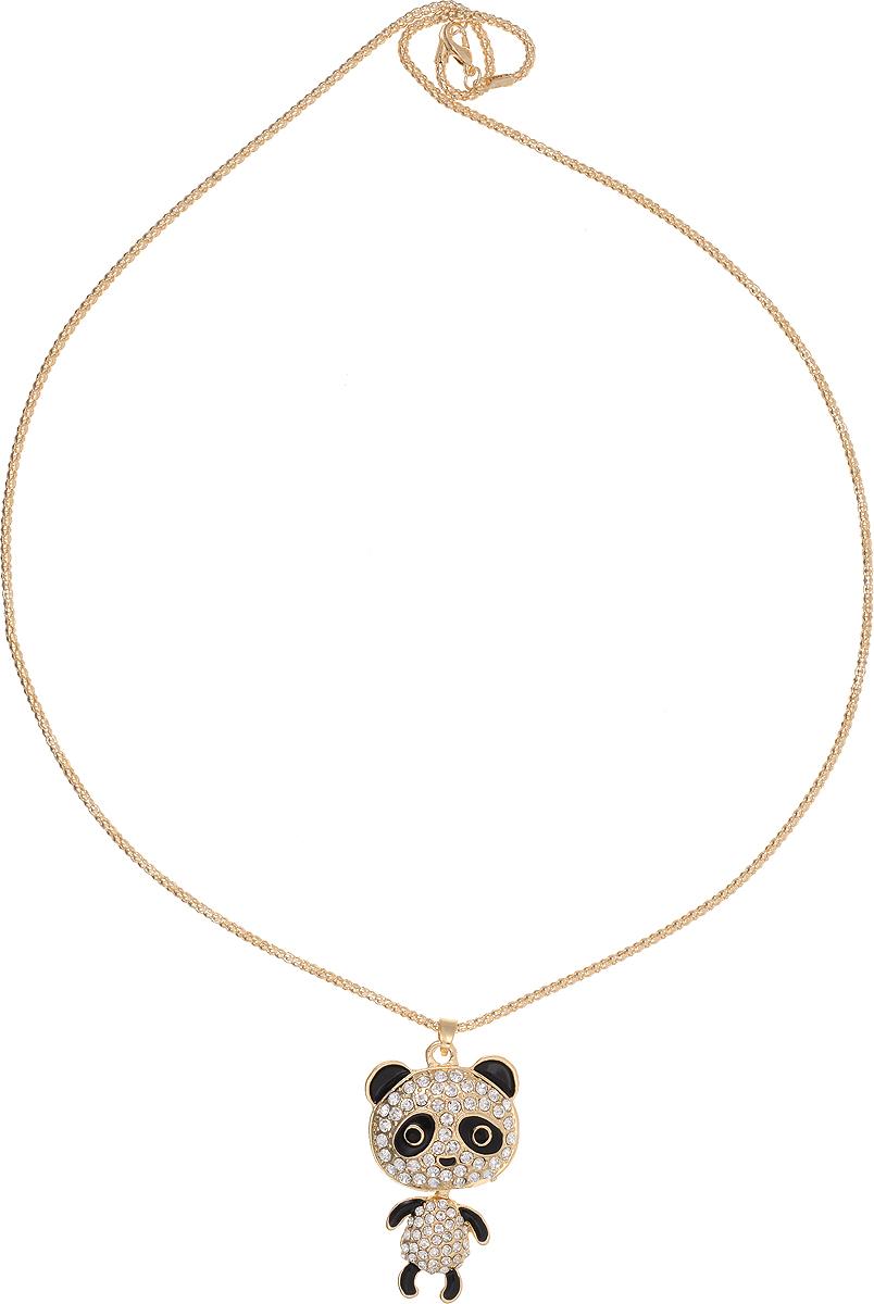 Кулон Bradex Танцующий мишка, цвет: золотой, серебряный, черный. AS 0059AS 0059Кулон Bradex Танцующий мишка выполнено из металлического сплава с серебряным покрытием. Объемный декоративный элемент выполнен в виде панды, оформленной вставками из страз. Туловище панды двигается отдельно от головы. Кулон застегивается на замок-карабин, а длина регулируется с помощью звеньев.