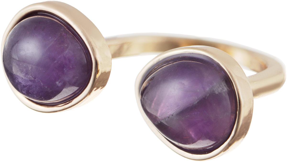 Кольцо Bradex Аметист, цвет: золотой, фиолетовый. AS 0032AS 0032Кольцо Bradex Аметист изготовлено из металлического сплава и выполнено в оригинальном дизайне. Изделие оформлено вставками из аметиста.