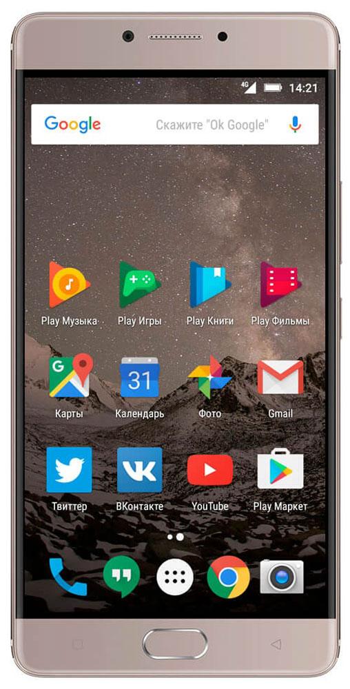 Highscreen Power Five Max, Copper23535Highscreen Power Five Max - смартфон, который обладает внушительной батареей на 5000 мАч и тонким эргономичным корпусом, изготовленным из прочнейшего алюминия 6000 серии. За счет своих небольших габаритов и веса, смартфон идеально лежит в руке, а механическая кнопка с сенсором отпечатков пальца поможет защитить персональные данные. В Power Five Max установлен 5.5'' Super AMOLED - экран, который охватывает 100% цветовой гаммы NTSC. Изображение выглядит просто потрясающе, настоящий черный и яркие насыщенные красками цвета не оставят тебя равнодушными. Мощный восьмиядерный процессор MediaTek Helio P10 способен обрабатывать огромное число операций в секунду, его по праву называют лучшим процессором по соотношению экономичности и производительности. Кроме мощного процессора Power Five Max обладает 4 ГБ оперативной памяти LPDDR 3 и 64 ГБ внутренней памяти. 13 Мпикс камера моментально фокусируется и позволяет запечатлеть даже объекты в движении, а...