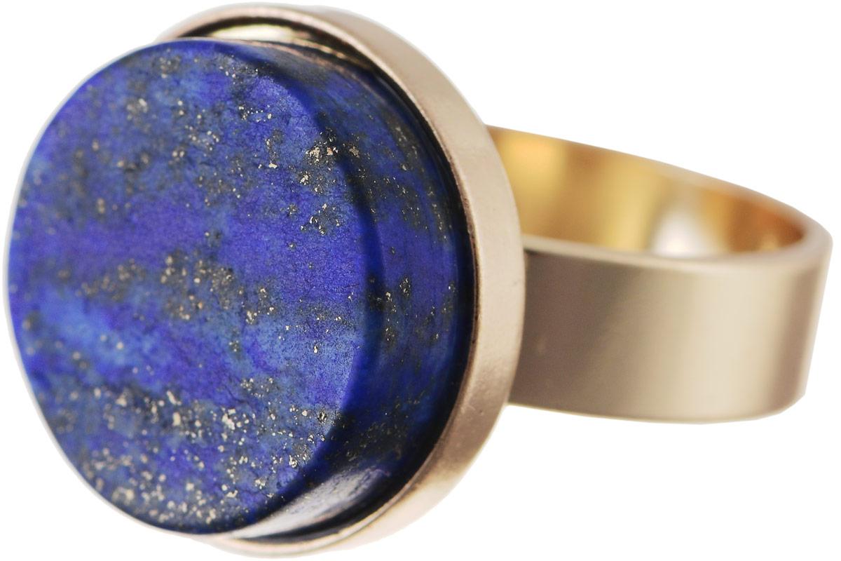 Кольцо Bradex Созвездие, цвет: золотой, темно-синий. AS 0042AS 0042Кольцо Bradex Созвездие изготовлено из металлического сплава с золотым покрытием. Декоративный элемент выполнен в круглой форме и оформлен вставкой из искусственного камня.