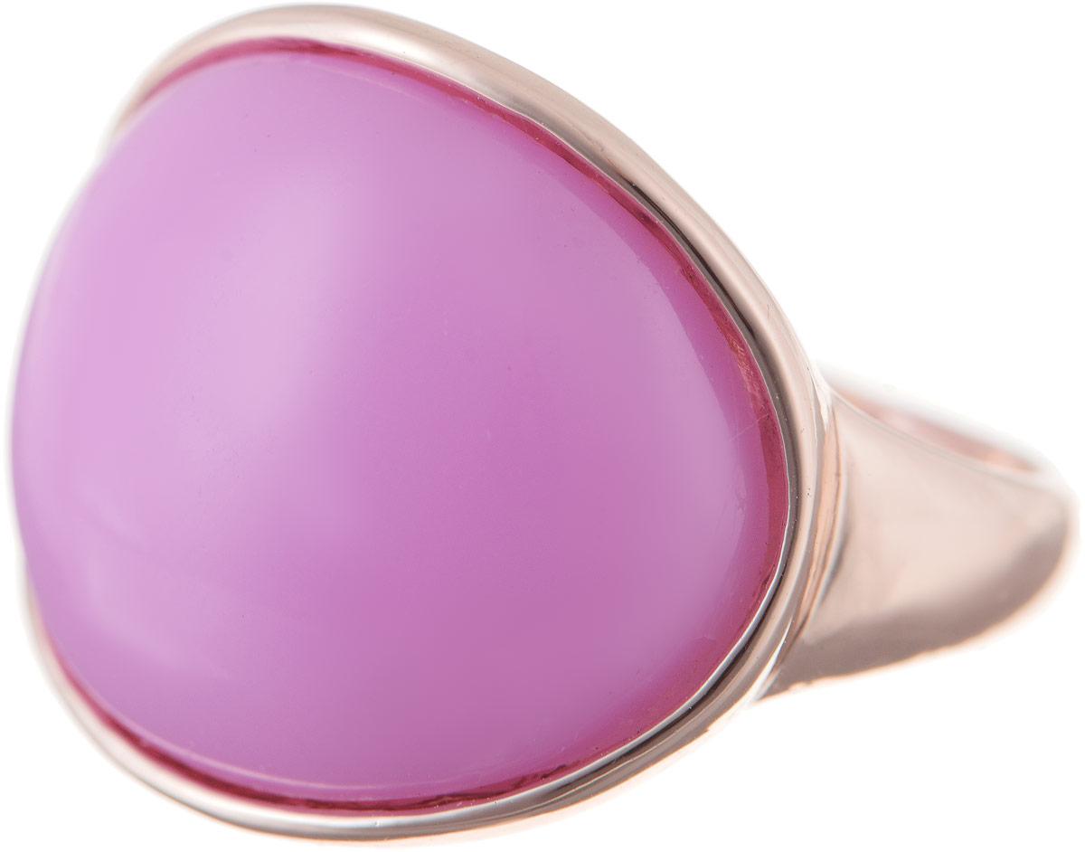Кольцо Bradex Нежность, цвет: золотой, лиловый. AS 0039. Размер 20AS 0039Кольцо Bradex Нежность выполнено из металлического сплава и дополнено декоративным элементом со вставкой из искусственного камня.