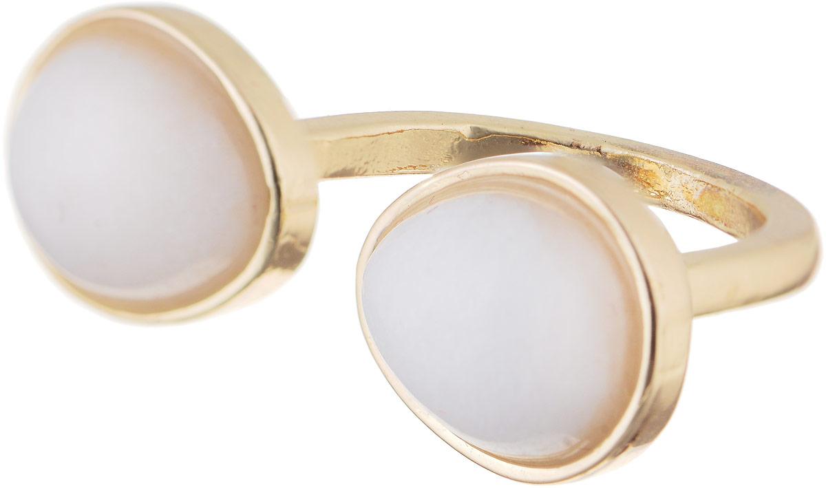 Кольцо Bradex Розовый кварц, цвет: золотой, светло-розовый. AS 0041AS 0041Кольцо Bradex Аметист изготовлено из металлического сплава и выполнено в оригинальном дизайне. Изделие оформлено вставками из кварца.