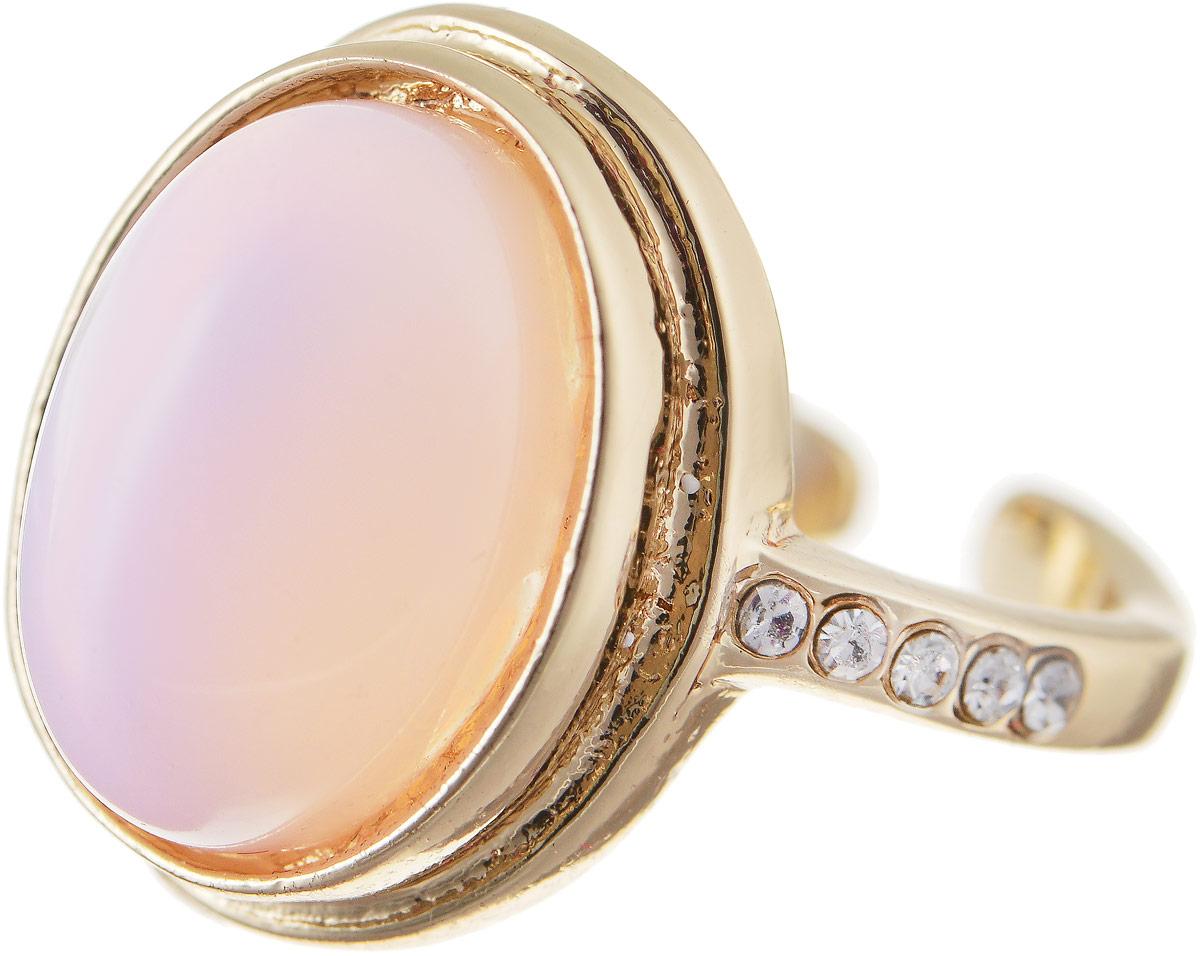 Кольцо Bradex Шпинель, цвет: золотой, сиреневый. AS 0043AS 0043Кольцо Bradex Шпинель выполнено из металлического сплава с золотым покрытием и дополнено декоративным элементом, оформленным вставкой из кошачьего глаза. Боковые части кольца оформлены вставками из страз. Размер кольца регулируется.