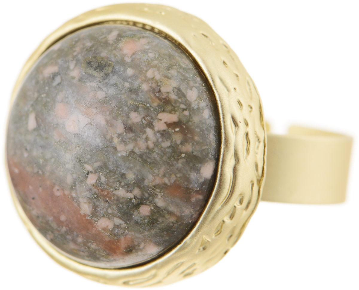 Кольцо Bradex Императрица, цвет: золотой, хаки. AS 0037AS 0037Кольцо Bradex Императрица изготовлено из металлического сплава. Декоративный элемент выполнен в круглой форме и оформлен вставкой из оникса. Размер кольца регулируется.
