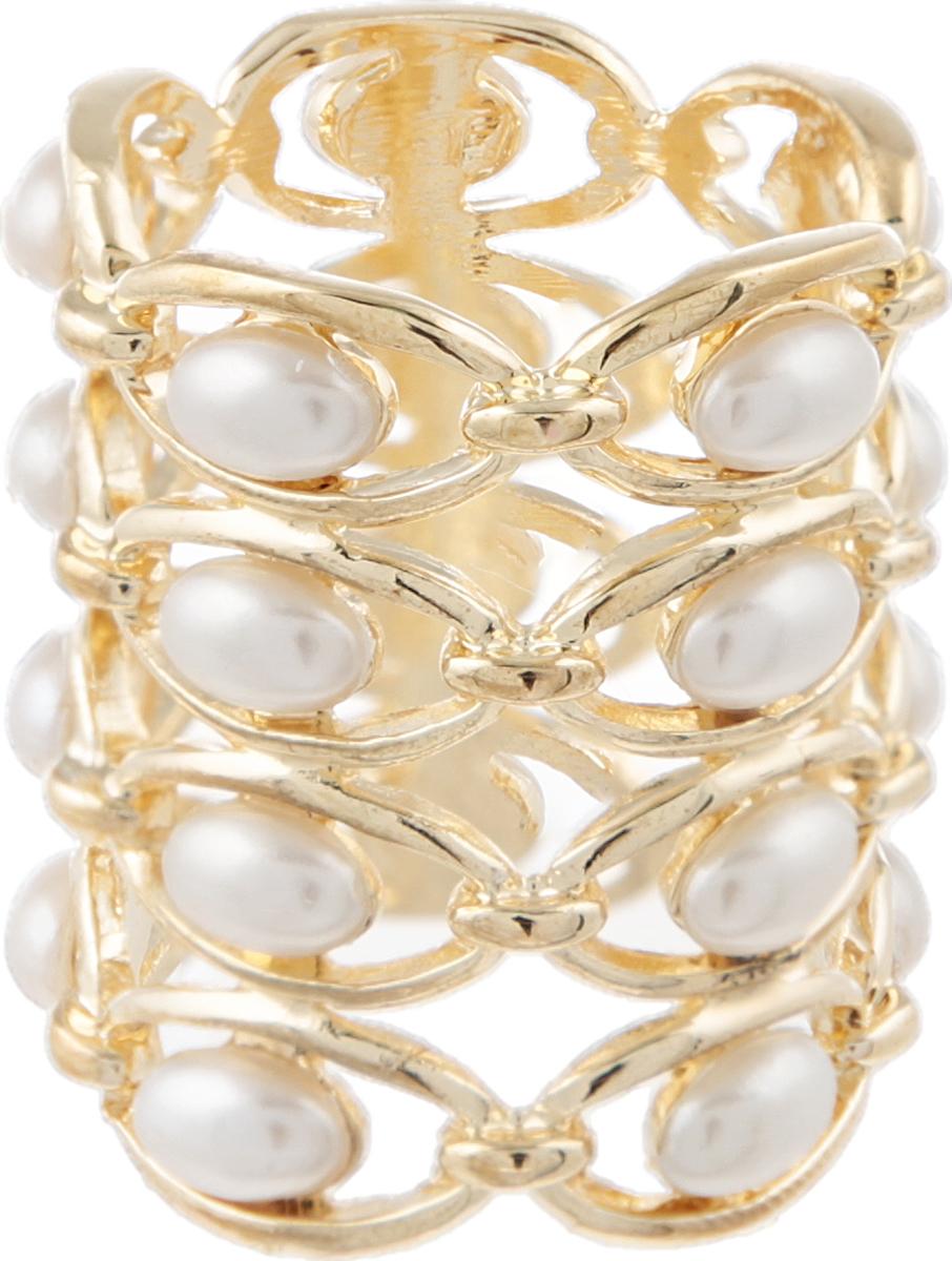 Кольцо для платка/шарфа Жемчужное от D.Mari. Искусственный жемчуг, бижутерный сплав золотого тона. ГонконгОС27812Кольцо для платка/шарфа Жемчужное от D.Mari. Искусственный жемчуг, бижутерный сплав золотого тона. Гонконг. Размер: диаметр 2 см. Кольца для шарфов и платков являются очень стильными и изящными аксессуарами, уместными и в повседневном ношении, и по особому случаю. Такое кольцо позволяет закрепить и украсить шарф или платок. Полезный и красивый аксессуар!