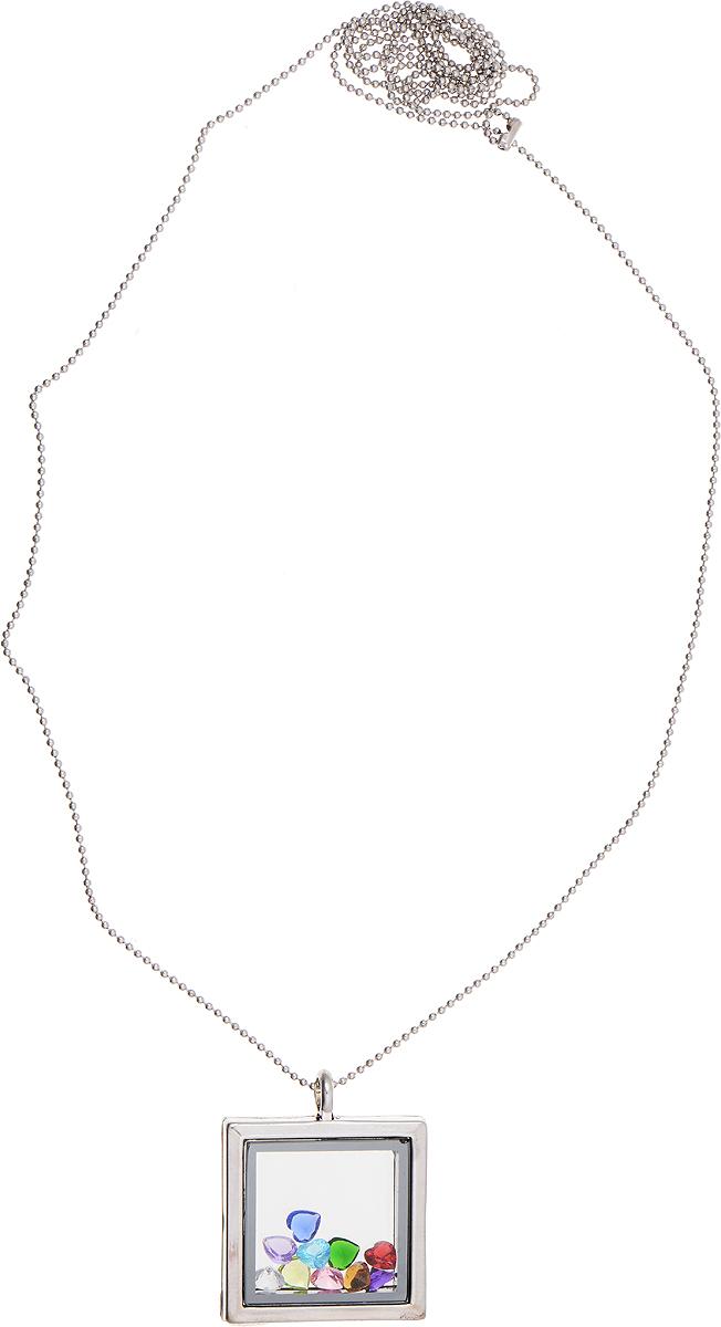 Кулон Bradex Калейдоскоп, цвет: серебряный. AS 0006AS 0006Оригинальный кулон Bradex Калейдоскоп выполнен из металлического сплава. Подвеска квадратной формы, оформленная вставками из страз, открывается и содержит небольшие разноцветные кристаллы.