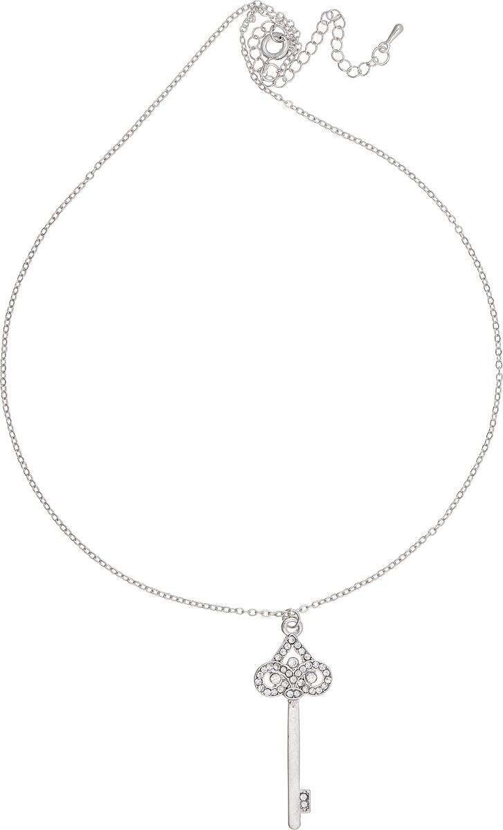 Кулон Bradex Ключик, цвет: серебряный. AS 0058AS 0058Кулон Bradex Мишка Тео изготовлен из металлического сплава. Декоративный элемент выполнен в виде ключа, оформленного вставками из страз. Изделие застегивается на шпренгельный замок, а длина регулируется с помощью звеньев.