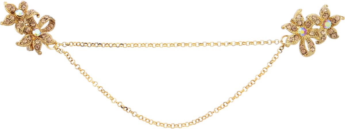Брошь Королева Анна от D.Mari. Кристаллы Aurora Borealis, золотистые стразы, бижутерный сплав старое золото. Гонконг30027380Брошь Королева Анна от D.Mari. Кристаллы Aurora Borealis, золотистые стразы, бижутерный сплав старое золото. Гонконг. Размер - 7 х 3,5 см. Тип крепления - булавка с застежкой.