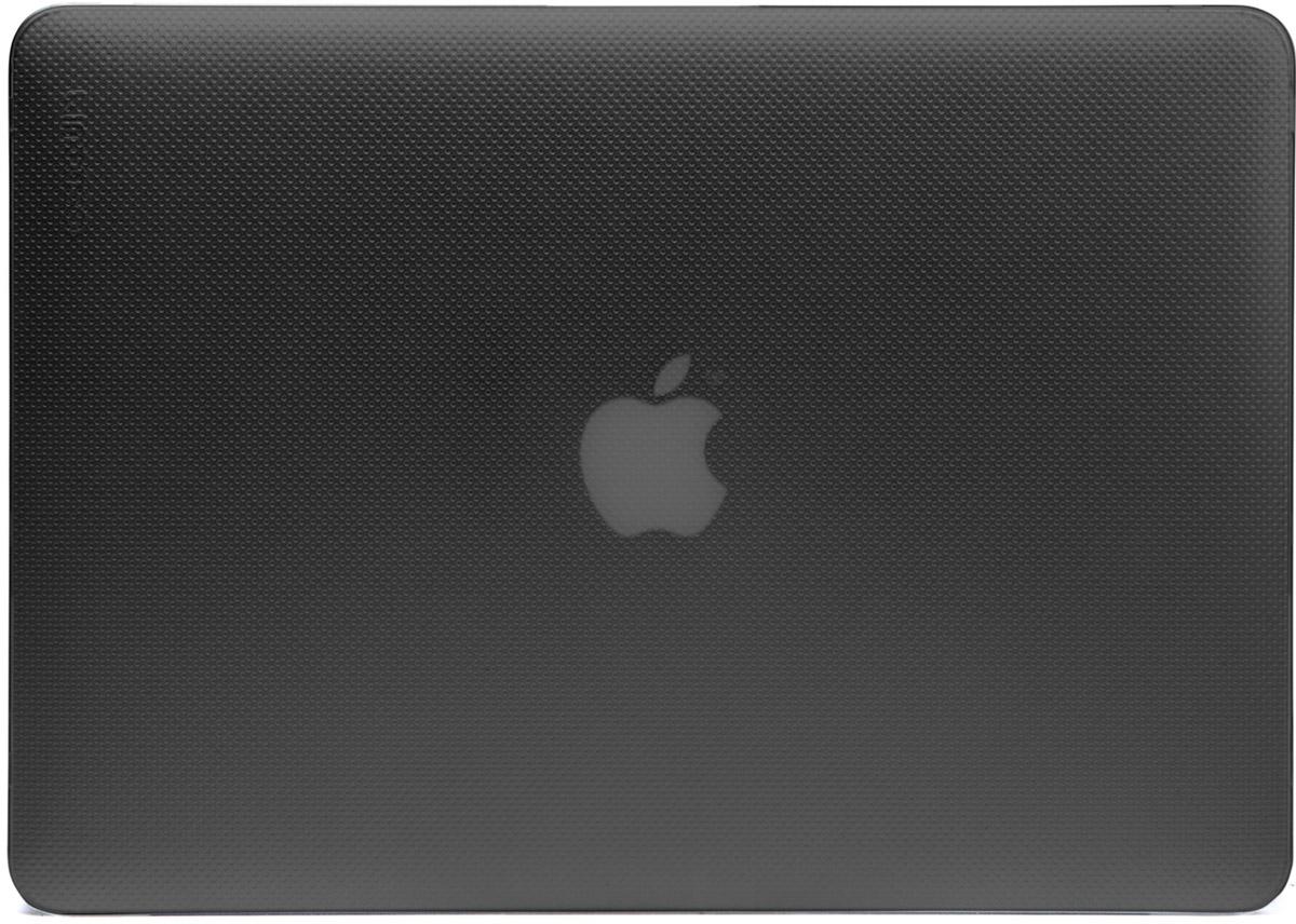 Incase Hardshell Case Dots чехол для Apple MacBook Pro 13, Black FrostCL60611Защитите свой MacBook и украсьте его в своём стиле с помощью лёгкого облегающего футляра Hardshell Case Dots от Incase. Он обеспечивает полную защиту, не закрывая доступ к разъёмам, индикаторам и кнопкам. Этот прочный футляр для MacBook выполнен в элегантном стиле. Благодаря литой конструкции и прорезиненным ножкам ноутбук хорошо зафиксирован на месте и не нагревается. Имеет вентиляционные отверстия для отвода тепловыделения.