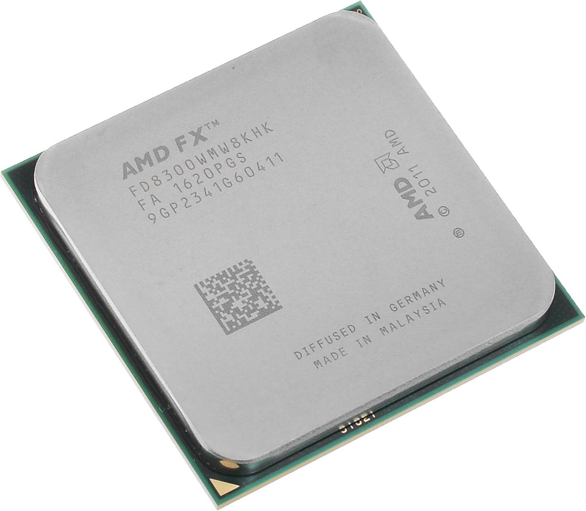 AMD FX-8300 процессор (FD8300WMW8KHK)FD8300WMW8KHKПроцессор AMD FX-8300 подойдет для настольных персональных компьютеров, основанных на платформе AMD. Данная модель имеет разблокированный множитель, а также встроенный двухканальный контроллер памяти DDR3. Процессор поддерживает все основные технологии AMD: AMD64 Enhanced Virus Protection, HyperTransport, PowerNow! / CoolnQuiet, Turbo Core 3.0, Virtualization