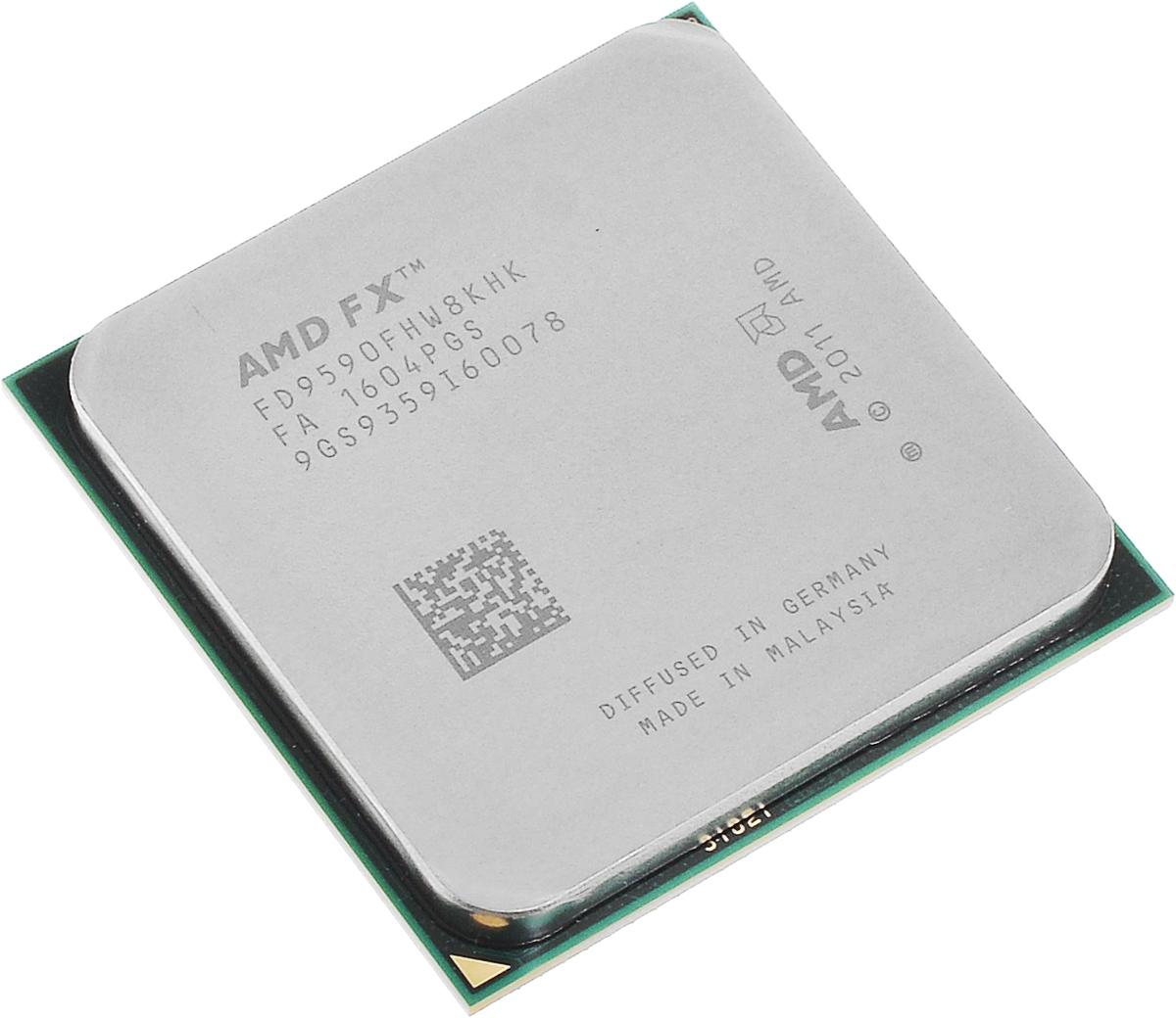 AMD FX-9590 процессор (FD9590FHW8KHK)FD9590FHW8KHKПроцессор AMD FX-9590 подойдет для настольных персональных компьютеров, основанных на платформе AMD. Данная модель имеет разблокированный множитель, а также встроенный двухканальный контроллер памяти DDR3. Процессор поддерживает все основные технологии AMD: AMD64 Enhanced Virus Protection, HyperTransport, PowerNow! / CoolnQuiet, Turbo Core 3.0, Virtualization