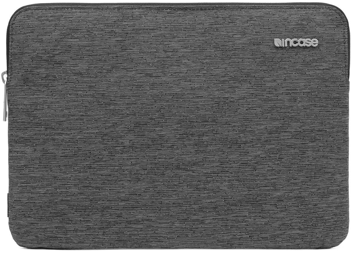 Incase Slim Sleeve чехол для Apple MacBook 12, Heather BlackCL60675Великолепный дизайн чехла Incase Slim Sleeve гармонично дополнит тонкий корпус MacBook, а подкладка из искусственного меха защитит его от царапин и ударов. Чехол Slim Sleeve изготовлен из ткани Ecoya, при производстве которой тратится меньше воды и выбрасывается меньше углекислого газа.