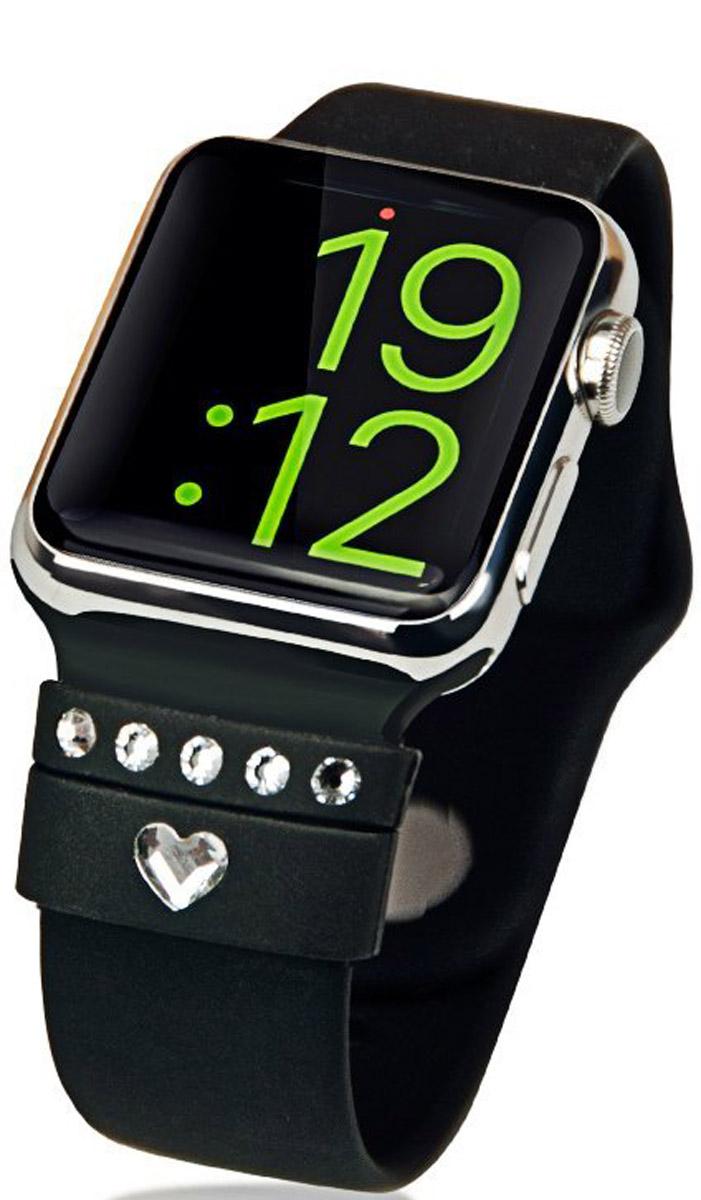 Bling My Thing Allure Loops для Apple Watch, Black набор для декорирования смарт-часов