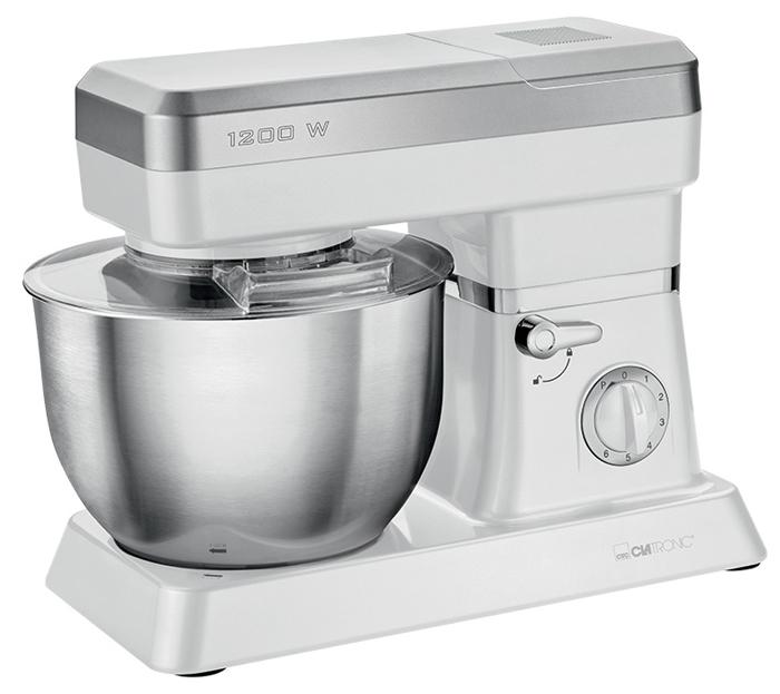 Clatronic KM 3636, White кухонный комбайнKM 3636 weissКухонный комбайн Clatronic KM 3636 станет прекрасным помощником для любой хозяйки. С ним вы сможете готовить невероятно вкусные и аппетитные блюда, при этом сократив время их приготовления. Основным назначением прибора является изготовление различных видов теста и кремов. Кухонный комбайн качественно и быстро перемешивает различные ингредиенты, что дает возможность избежать комочков. Clatronic KM 3636 снабжен 6,3 л чашей из нержавеющей стали для 3-3,5 кг теста и 1,5 л стеклянной чашей блендера. 6 скоростей замешивания и импульсный режим обеспечат наилучший результат. Поворотный рукав на 35° Быстрозажимной патрон Легко разбирается для мытья и чистки Нескользящие ножки на присосках