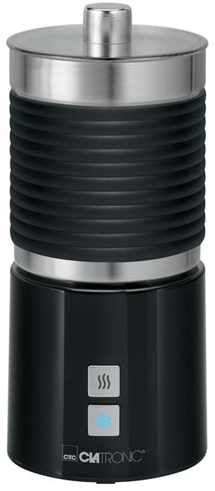 Clatronic MS 3654, Black пеновзбивательMS 3654 soft touch schwarzВспениватель молока Clatronic MS 3654 помогает создать идеальный вкус напитков с молочной пеной - кофе, горячий шоколад или какао. Вспенивает молоко за считанные секунды. Для того чтобы приготовить идеальную пенку для Капучино или Латте, молоко не нужно предварительно подогревать. Прибор имеет 3 режима работы: вспенивание холодного молока, вспенивание горячего молока и подогрев. Вспененный объем молока: приблизительно 500 мл Поворот на 360° Насадка для приготовления горячих напитков без вспенивания (например, какао)