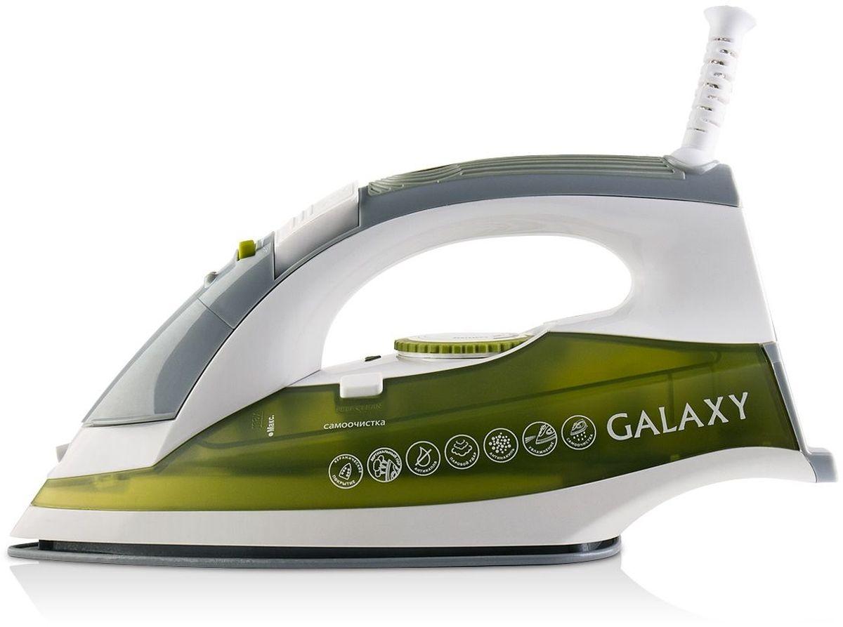 Galaxy GL 6109 утюг4630003365071Утюг Galaxy GL 6109 - идеальный выбор для людей, которые ценят свое время и предпочитают делать домашние дела легко и непринужденно! Благодаря керамическому покрытию подошвы, утюг идеально скользит по ткани и без труда разглаживает даже самые сложные складки. Вместительный резервуар для воды объемом 300 мл обеспечивает долгую непрерывную работу с паром! Крышка резервуара снабжена надежным силиконовым уплотнителем, который предотвращает расплескивание воды в процессе глажения. Данная модель имеет массу дополнительных функций, обеспечивающих абсолютный комфорт при работе с утюгом и продлевающих срок его службы - антикапля, антинакипь, вертикальное отпаривание, паровой удар, функция увлажнения, система защиты от перегрева.