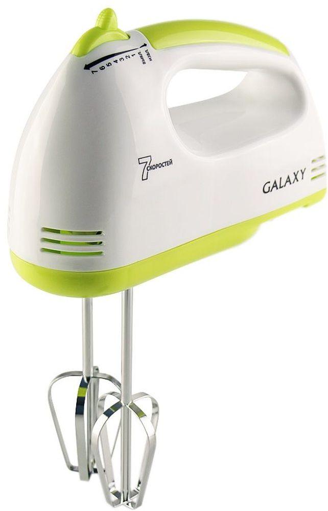 Galaxy GL 2206 миксер4630003365316Миксер электрический Galaxy GL2206 предназначен как для взбивания и перемешивания продуктов, так и для замешивания теста. 7 скоростей работы позволят регулировать процесс обработки продуктов. Кнопка для извлечения насадок сэкономит время и облегчит эксплуатацию миксера. Благодаря стильному современному дизайну данная модель впишется в любой интерьер и не займет много места на кухне.