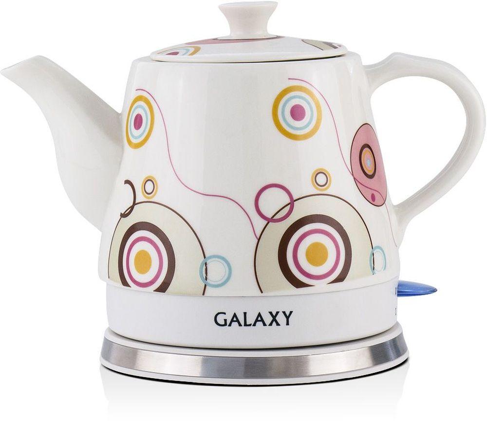 Galaxy GL 0505 электрический чайник4650067300856Керамический чайник Galaxy GL 0505 создает теплую атмосферу на кухне и располагает к душевной беседе за чашкой чая. Благодаря толстым стенкам, чайник работает бесшумно. Керамический чайник Galaxy, как и любая посуда из этого материала, долго сохраняет тепло, позволяя значительно сократить энергозатраты. Во время чаепития вы можете разместить керамический чайник Galaxy GL 0505 на столе. В отличие от пластиковых и металлических чайников, керамический чайник вписывается в картину чаепития очень гармонично.