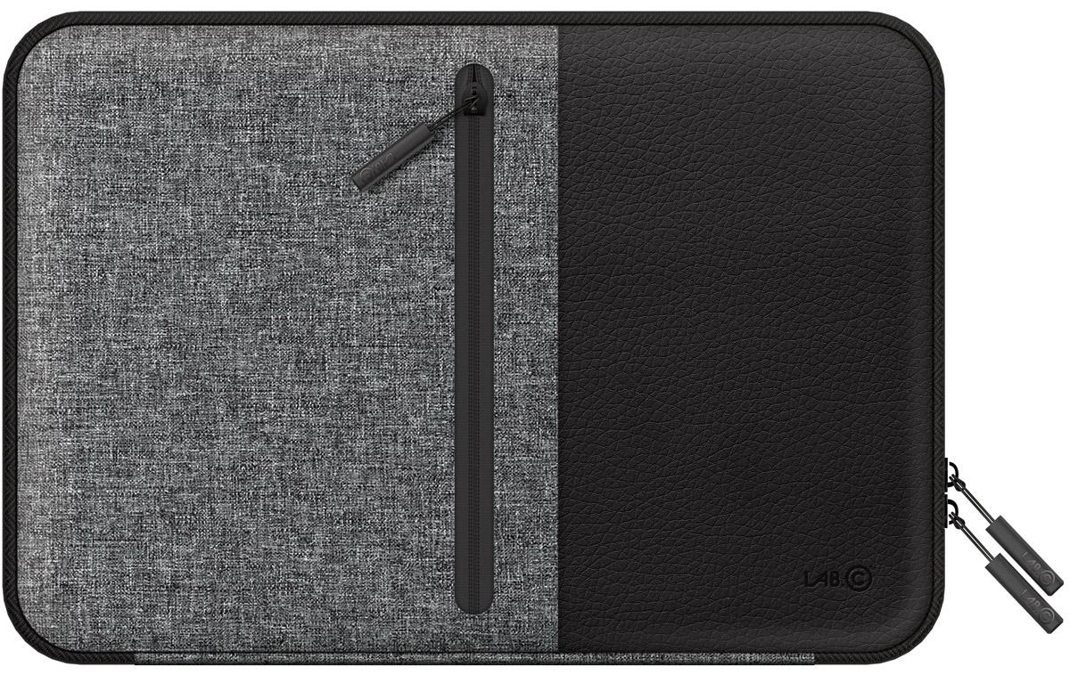 LAB.C Pocket Sleeve, Black чехол для ноутбука 13LABC-450-BKСтильный и удобный чехол LAB.C Pocket Sleeve для ноутбуков диагональю 13. Выполнен из кожзаменителя и ткани, которые обеспечат надежность и сохранность устройства. Ноутбук надежно закрывается в основном отделении замком на молнии. Кроме того, на внутренней стороне имеется дополнительный карман для различных мелочей и принадлежностей. Внешняя сторона имеет специальную ручку, которая обеспечит комфорт и удобство при переноске ноутбука.