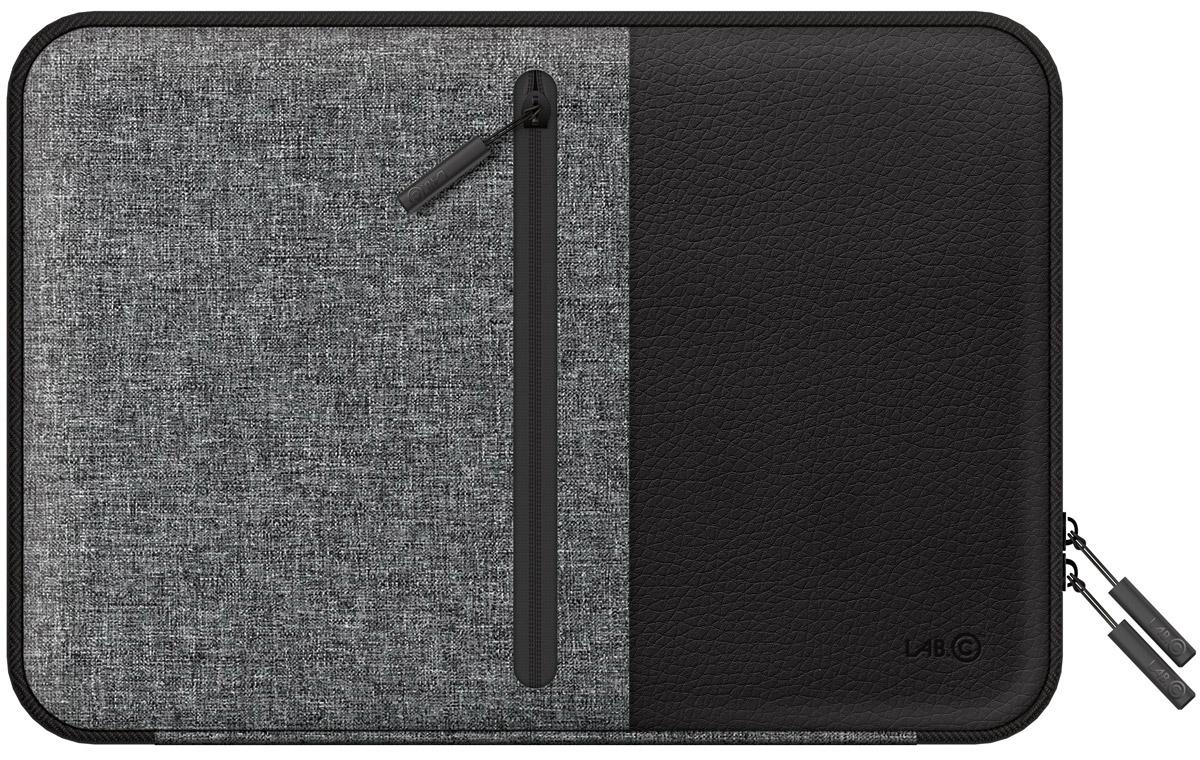 LAB.C Pocket Sleeve, Black чехол для ноутбука 15LABC-451-BKСтильный и удобный чехол LAB.C Pocket Sleeve для ноутбуков диагональю 15. Выполнен из кожзаменителя и ткани, которые обеспечат надежность и сохранность устройства. Ноутбук надежно закрывается в основном отделении замком на молнии. Кроме того, на внутренней стороне имеется дополнительный карман для различных мелочей и принадлежностей. Внешняя сторона имеет специальную ручку, которая обеспечит комфорт и удобство при переноске ноутбука.