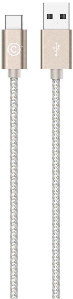 LAB.C USB-C to USB Cable A.L, Champagne Gold USB-кабель (1,2 м)LABC-560-GLКабель LAB.C USB-C to USB Cable A.L предназначен для зарядки и синхронизации устройств с коннектором USB-C. Отличительной особенностью данного кабеля является его тканевое покрытие, придающее больше надежности и прочности даже при активной эксплуатации. Коннекторы выполнены из алюминия премиального качества и отличаются высокой скоростью передачи данных.