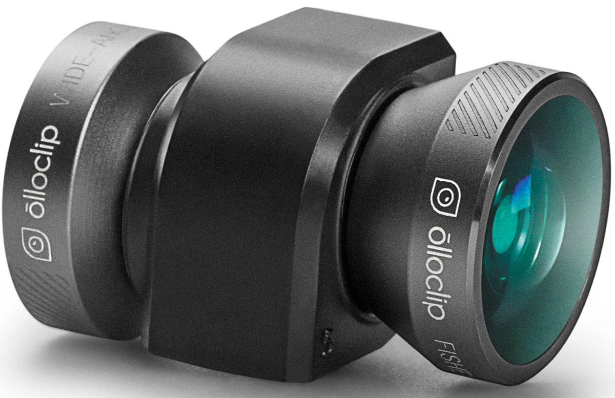 Olloclip 4-in-1, Space Grey Black накладной объектив для iPhone 5/5s + чехол, BlackOCEU-IPH5-FW2M-GYB-B