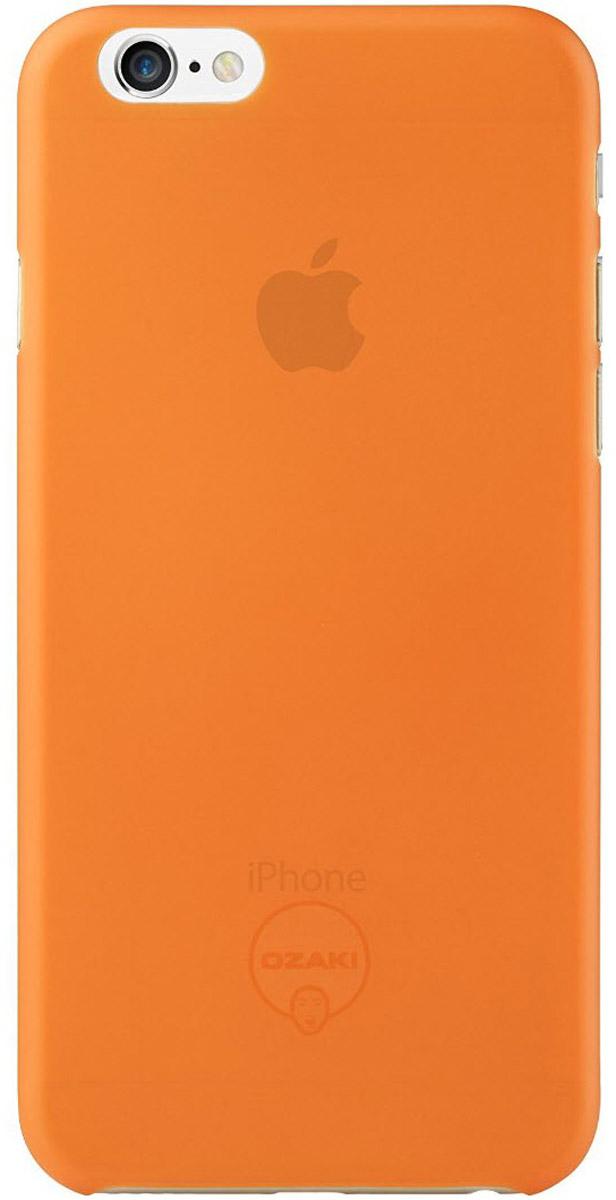 Ozaki O!coat 0.3 Jelly Case чехол для iPhone 6, OrangeOC555OGЧехол Ozaki O!coat 0.3 Jelly Case для Apple iPhone 6/6S предназначен для защиты корпуса смартфона от механических повреждений и царапин в процессе эксплуатации. Имеется свободный доступ ко всем разъемам и кнопкам устройства. Толщина чехла составляет 0,3 мм.