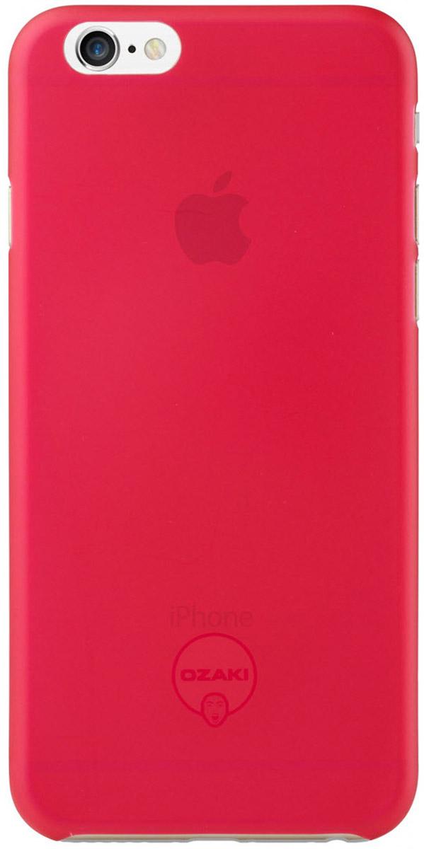 Ozaki O!coat 0.3 Jelly Pro Gapfree Case чехол для iPhone 6/6s, RedOC550RDЧехол Ozaki O!coat 0.3 Jelly Pro Gapfree Case для Apple iPhone 6/6s предназначен для защиты корпуса смартфона от механических повреждений и царапин в процессе эксплуатации. Имеется свободный доступ ко всем разъемам и кнопкам устройства. Толщина чехла составляет 0,3 мм.
