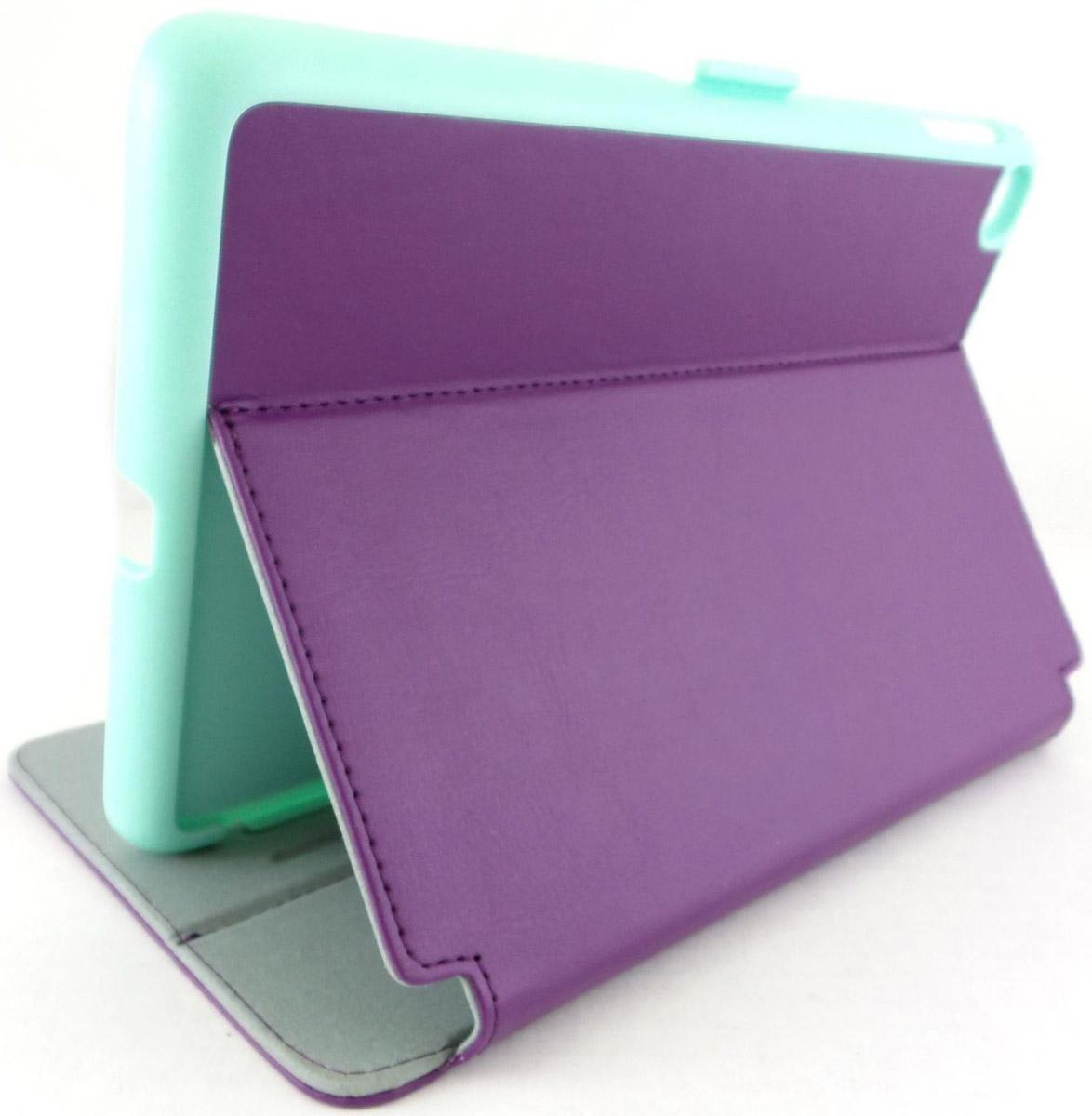 Speck StyleFolio чехол для Apple iPad mini 4, Acai Purple Aloe Green71805-C256Чехол Speck StyleFolio для планшета Apple iPad mini 4 надежно защищает ваше устройство от случайных ударов и царапин, а так же от внешних воздействий, грязи, пыли и брызг. Крышку можно использовать в качестве настольной подставки для вашего устройства. Чехол приятен на ощупь и имеет стильный внешний вид. Он также обеспечивает свободный доступ ко всем функциональным кнопкам планшета и камере.