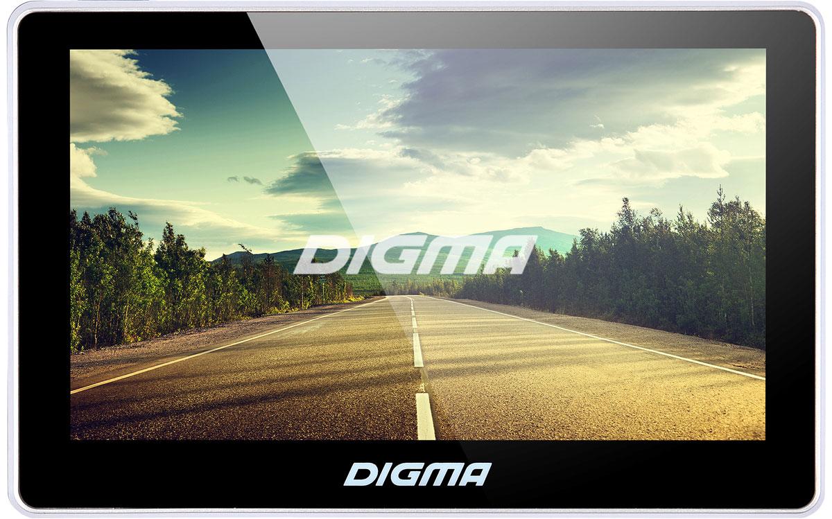Digma Alldrive 500 , Black GPS навигаторALLDRIVE 500GPS навигатор Digma Alldrive 500 - это устройство, созданное для облегчения жизни автомобилистов и путешественников. Оснащенный программным обеспечением Navitel, девайс поможет вам всегда получать только актуальную и детализированную информацию о вашем местонахождении и без проблем добраться до места назначения. Голосовое оповещение предназначено для того, чтобы водитель был сконцентрирован только на дороге. Устройство имеет цветной 5 сенсорный дисплей с разрешением 480х272 пикселей. Работающий на базе операционной системы Windows CE 6.0, GPS навигатор Digma Alldrive 500 располагает большими мультимедийными возможностями. Быструю работу устройства обеспечивает процессор Mstar MSB2531, имеющий частоту 800 МГц, и оперативная память 128 МБ. Наличие собственной памяти 4 ГБ и возможность установить флеш-накопитель microSD до 32 ГБ позволяет помимо навигационных карт наполнить устройство медиафайлами. Аккумулятор емкостью 850 мА/ч позволяет...