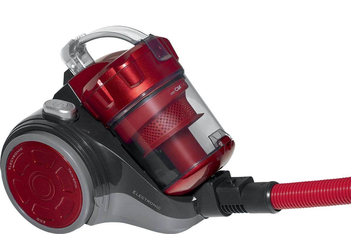 Clatronic BS 1302, Antrazit Red пылесосBS 1302 antrazit-rotС такой мощностью, которой обладает Clatronic BS 1302 все волнения по поводу уборки исчезнут как таковые. Теперь нет нужды каждый раз тщательно вычищать ковры щетками с моющими средствами, с пылесосом Clatronic BS 1302 вам остается лишь поддерживать видимость порядка. Технология Eco-Cyclon Twin Spin и отсутствие мешка для сбора пыли обеспечивают постоянную высокую мощность всасывания.