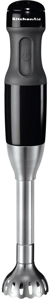 KitchenAid 5KHB2571EOB, Black блендер5KHB2571EOBПогружной блендер KitchenAid 5KHB2571 сэкономит ваше время и выполнит необходимые действия на кухне быстро и качественно. Имеет 2 съемные насадки с поворотным замком (20 и 33 см) для смешивания и измельчения всех ингредиентов, он помогает вам дарить счастье в каждой тарелке! Можно легко менять различные типы лезвий, что позволяет решать любые кулинарные задачи: от колки льда до измельчения мяса и взбивания молока. Более того, насадки для измельчения и взбивания расширяют ваши кулинарные возможности. 3 взаимозаменяемые куполовидные лезвия из нержавеющей стали Мощный 5-скоростной двигатель Бесшумная эффективная работа в течение длительного времени Металлический корпус с мягкой удобной ручкой 2 съемные насадки из нержавеющей стали с поворотным замком (20 и 33 см) позволяют с легкостью смешивать и измельчать продукты даже в глубоких кастрюлях, чашах и кувшинах Стакан для смешивания объемом 1л с делениями и крышкой, предотвращающей...