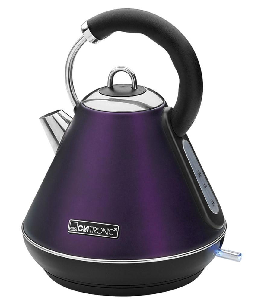 Clatronic WKS 3625, Brombeer чайникWKS 3625 brombeerClatronic WKS 3625 - новая модель чайника от знаменитого немецкого производителя бытовой техники - компании Clatronic. Он не только станет вашим главным помощником на кухне, но и украсит ее. Стильный корпус этого прибора выполнен из высококачественной нержавеющей стали. Скрытый нагревательный элемент устройства выполнен из нержавеющей стали, что гарантирует его надежность и долговечность. Чайник очень удобно использовать благодаря круглой подставке (на ней прибор можно поворачивать на 360°)