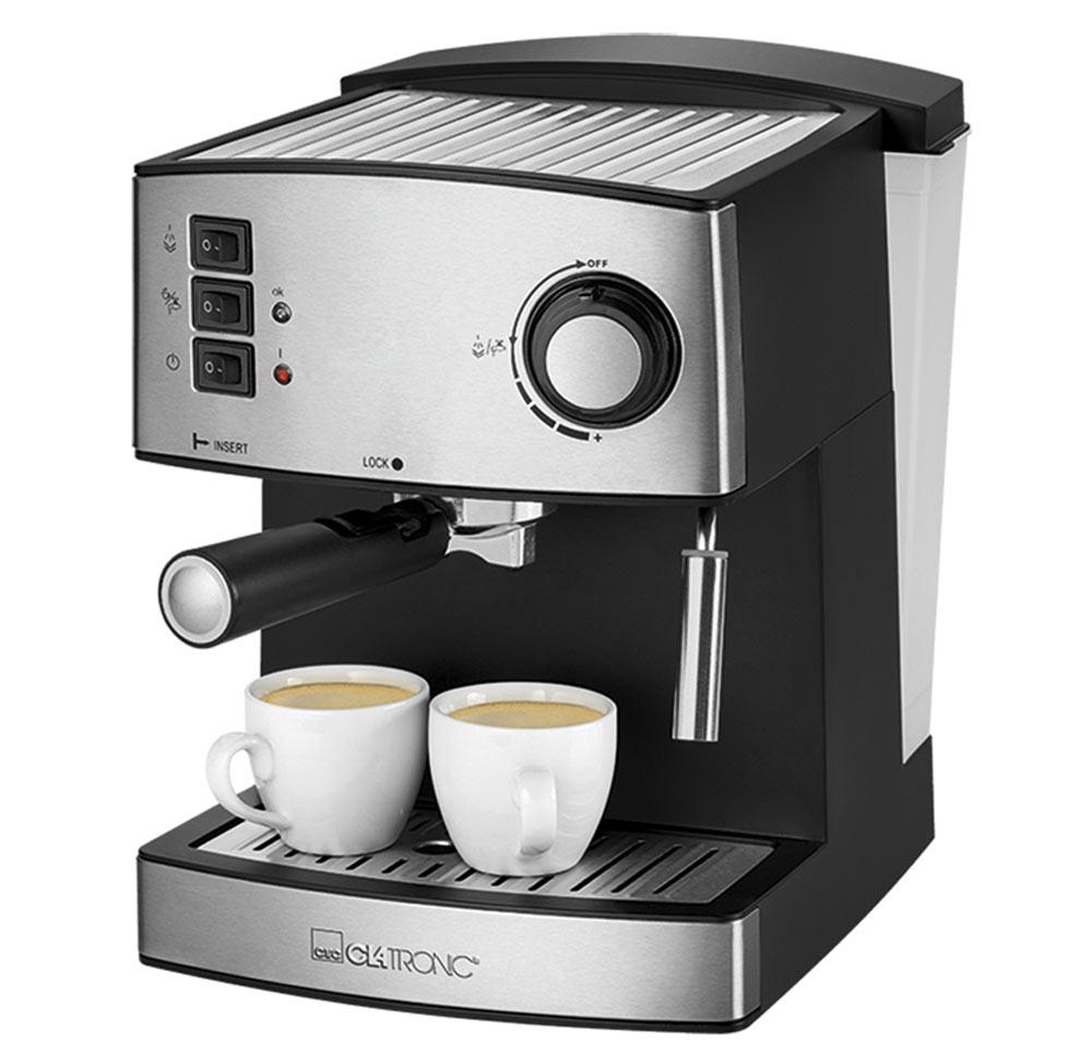 Clatronic ES 3643, Black Inox кофемашинаES 3643 schwarz-inoxКофемашина Clatronic ES 364 приготовит вам вкусный бодрящий кофе и сохранит ваше драгоценное время.