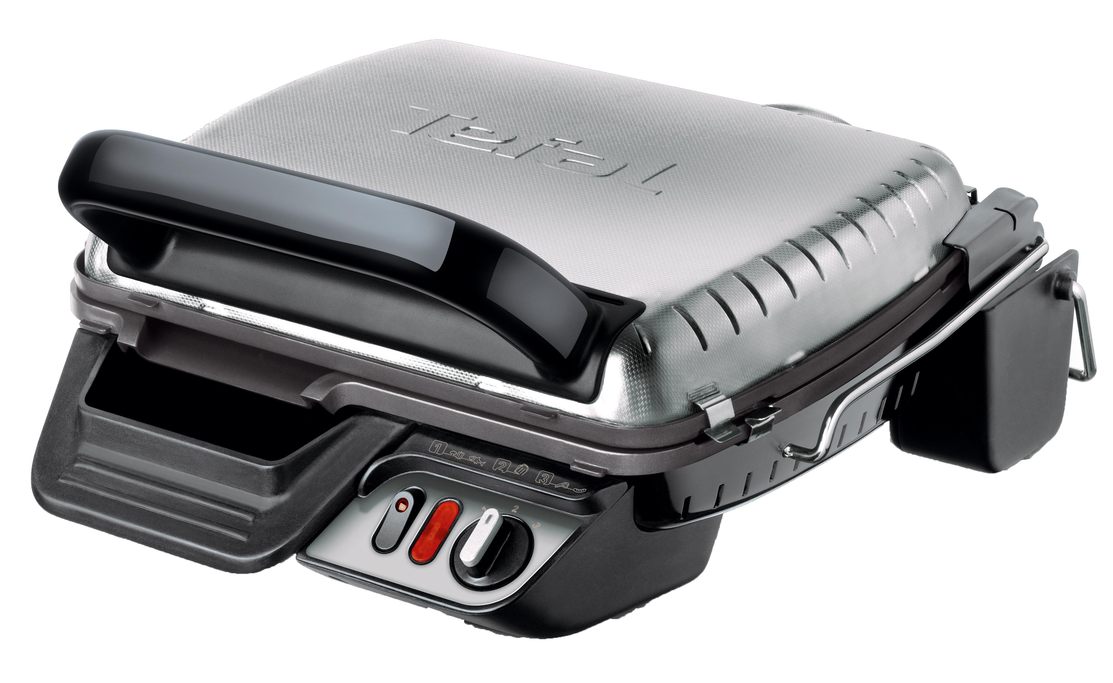Tefal GC306012 Health Grill Comfort электрогрильGC306012Контактный гриль Health Grill Comfort имеет 3 температурных режима нагрева для приготовления разнообразных продуктов и достижения различных степеней прожарки Cверхбыстрое приготовление: благодаря равномерному двустороннему нагреву продукты готовятся в 2 раза быстрее. Мясо, рыба, овощи, морепродукты, горячие бутерброды будут готовы за считанные минуты. Экономит Ваше время 3 положения: гриль, барбекю и «печь» - подходит для разогрева пиццы, пирогов. Гриль оснащен съемными пластинами с антипригарным покрытием: позволяет готовить без масла - полезная еда. Сок и жир стекают в специальный поддон для сбора жидкости. Пластины и поддон легко мыть в посудомоечной машине. Прибор можно хранить компактно в вертикальном положении. Большой плюс для маленькой кухни