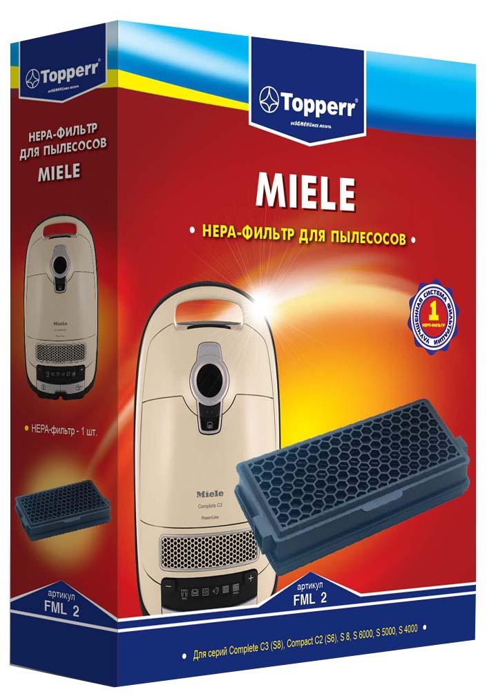 Topperr FML 2 HEPA-фильтр для пылесосов MieleFML 2HEPA-фильтр Topperr FML 2 для пылесосов Miele. Обладает высочайшей степенью фильтрации, задерживает 99,5% пыли. Благодаря специальным свойствам фильтрующего материала, фильтр улавливает мельчайшие частицы, позволяя очищать воздух от пыльцы, микроорганизмов, бактерий и пылевых клещей. Заменяет оригинальный фильтр Miele SF-AA50