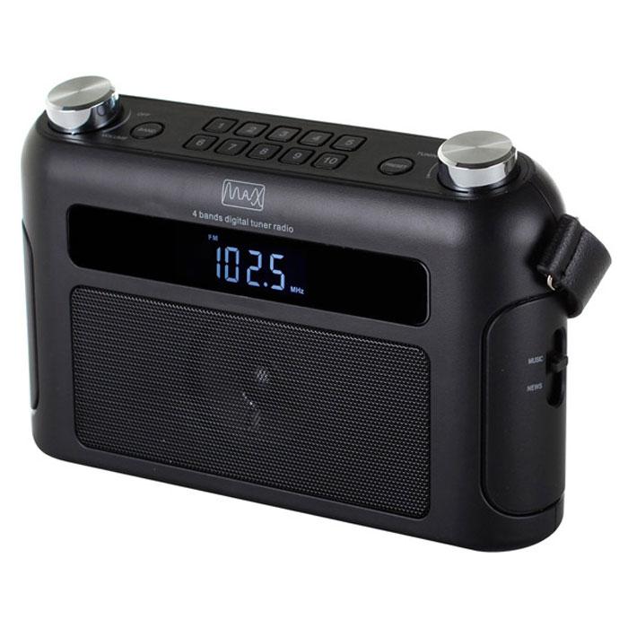 MAX MR-310Т, Black портативный радиоприемник