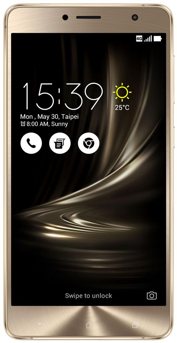 ASUS ZenFone 3 Deluxe ZS550KL, Gold (90AZ01F1-M00090)90AZ01F1-M00090Asus ZenFone 3 Deluxe ZS550KL - великолепный смартфон, в котором безупречное качество изготовления и техническое совершенство приводят к рождению уникальной формы - тонкого цельнометаллического корпуса без каких-либо пластиковых вставок для антенн. ZenFone 3 Deluxe - это чудо современных технологий, которое рождается в результате сложного производственного процесса, включающего в себя 240 этапов. Прецизионная фрезеровка заготовки для получения прочного и при этом тонкого корпуса, полировка металлической рамки методом пескоструйной обработки - каждый этап представляет собой еще один шаг на пути к техническому совершенству, которым является новый смартфон Asus. Все, что вы увидите на 5,5-дюймовом экране смартфона ZenFone 3 Deluxe, будет таким же реалистичным, как сама реальность, ведь он изготовлен по технологии Super AMOLED, наделяющей его невероятной яркостью, обладает высоким разрешением Full-HD (1920x1080 пикселей), потрясающей контрастностью (3 000 000:1) и...